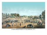 Union Prisoners at Salisbury, N.C. Prints by  Goupil