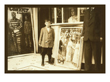 12 Year Old Usher at the Princess Theater Print by Lewis Wickes Hine