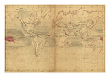 World Winds in Navigation Prints by Captain Charles Wilkes