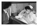 Nurse Aiko Hamaguchi, Mother Frances Yokoyama, Baby Fukomoto Posters by Ansel Adams