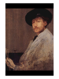 Self Portrait Print by James Abbott McNeill Whistler