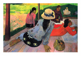 Afternoon Quiet Hour Print by Paul Gauguin