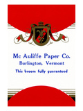 Mc Auliffe Paper Co. Broom Label Posters