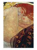 Danae Plakat af Gustav Klimt
