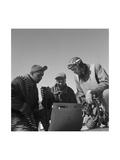 Tuskegee Airmen Roscoe C. Brown, Marcellus G. Smith, and Benjamin O. Davis, Ramitelli, Italy Prints