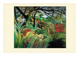 Surprised! Storm in the Forest Premium Giclee Print by Henri Rousseau