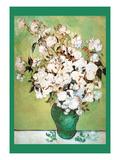Vase Avec Roses Print by Vincent van Gogh
