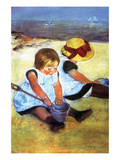 Children Playing on the Beach Prints by Mary Cassatt