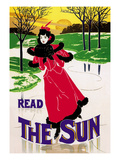 Read the Sun: Skating at Sunset Premium Giclee Print by Louis John Rhead