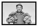 Richard Kobayashi, Framer with Cabbages Posters by Ansel Adams