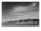 View South from Manzanar to Alabama Hills Reproduction giclée Premium par Ansel Adams