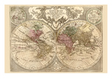 World Map Prepared for Then French King Prints by Guillaume De Lisle