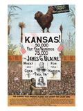 Kansas! for James G Blaine. Kunstdrucke von  J.M.W. Jones Sta'y & P't'g Co