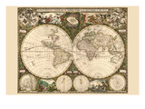 World Map Prints by Frederik de Wit