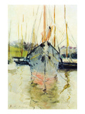 Midina at the Entrance to the Isle of Wight Premium Giclee Print by Berthe Morisot