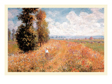 Paysage Pres De Giverny Posters by Claude Monet