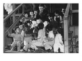 Mr. Matsumoto and Group of Children Posters by Ansel Adams