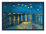 Night at the Rhone Print by Vincent van Gogh