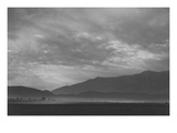 View Sw over Manzanar, Dust Storm Posters by Ansel Adams