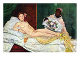 Olympia 1 Posters by Edouard Manet