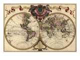 World Map Prepared for Then French King Art by Guillaume De Lisle