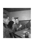 Tuskegee Airmen Playing Cards in the Officers' Club in the Evening Prints