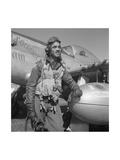Edward C. Gleed, Tuskegee Pilot, Standing, Three-Quarter Length Portrait Posters