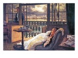 A Storm Moves Over Print by James Tissot