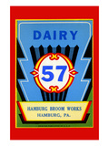 Dairy 57 Broom Label Prints