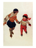 Winter Skates Premium Giclee Print by Jessie Willcox-Smith