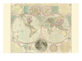 World Map Prints by Carington Bowles