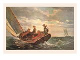 Breezing Up Premium Giclee Print by Winslow Homer