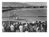 Baseball Game Print by Ansel Adams