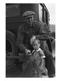 1936 Drought Refugee Giclee-tryk i høj kvalitet af Dorothea Lange