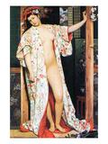 A Woman in Japan Bath Posters af James Tissot