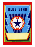 Blue Star Broom Label Prints