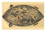 Genoese World Map Plakat af Paolo del Pozzo Toscanelli