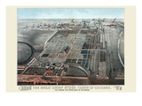 Great Union Stockyards of Chicago Print by Charles Rascher