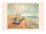 Boats at Saintes-Maries Prints by Vincent van Gogh