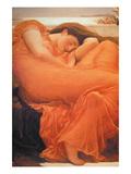 Slapende vrouw: Flaming June Poster van Frederick Leighton