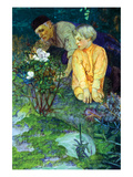 Rising Vigorously Out of the Earth Was a Little Rose Bush Premium Giclee Print by Elizabeth Shippen Green