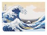The Great Wave of Kanagawa Giclee-tryk i høj kvalitet af Katsushika Hokusai