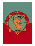 Faucett Aviation Airline Luggage Label Poster