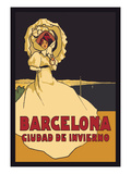 Barcelona, Ciudad De Invierno Poster by  Simon