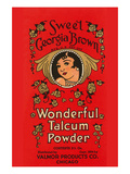Sweet Georgia Brown Wonderful Talcum Powder Premium Giclee Print