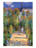The Artist's Garden at Vetheuil Plakat af Claude Monet