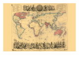 British Empire Throughout the World Prints by John Bartholemew
