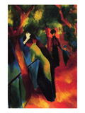 Sunny Way Giclee-tryk i høj kvalitet af Auguste Macke