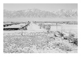 Manzanar from Guard Tower, View West (Sierra Nevada in Background), Art by Ansel Adams