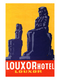 Louxor Hotel Luggage Label Premium Giclee Print by  Z
